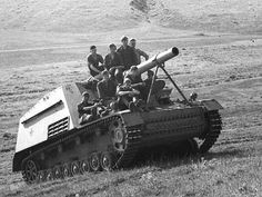 """HUMMEL or """"Bumble-Bee"""" Self propelled artillery with a 15cm Howitzer."""