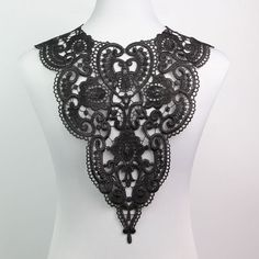 Fabric Venice Collar Lace Neckline Polyester Sewing Trim Applique Craft Charming