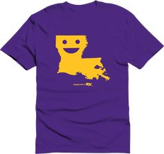 Happy state Co. louisiana shirt available at http://www.kickstarter.com/projects/happystateco/happy-state-co-state-themed-shirts