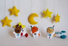Nursery Mobile Baby Mobile baby cosmos gift felt by TuriTuturi