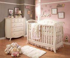 Baby girl nursery - love the furniture