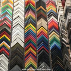 Color, Colors and More Colors!! Are you looking for bright colorful frames for your artwork, posters or photos? Look no further we've got you covered! www.karenscustomframes.com