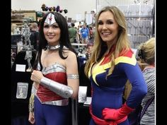 Tanya Tate As Captain Marvel At San Diego Comic Con 2014!
