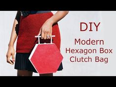Hey babes, I'm back with another DIY box clutch. I saw these hexagon wooden boxes and had a light bulb moment to make a statement clutch bag out of it. Diy Makeup Bag Tutorial, Diy Pouch Tutorial, Makeup Bag Tutorials, Diy Box Clutch, Diy Purse, Clutch Bag, Hexagon Box, Modern Fashion, Fashion Ideas