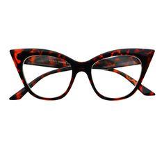 #retro #vintage #womens #fashion #clear #lens #large #glasses #cat #eye #frames #tortoise
