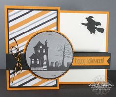 Creative Inking Blog Hop -- Spooky Fun with Stampin' Up! Halloween Nights Designer Series Paper and Spooky Fun stamp set.  Fun with Double-Z fold technique.  Card created by Lori Mueller, www.stampindreams.com
