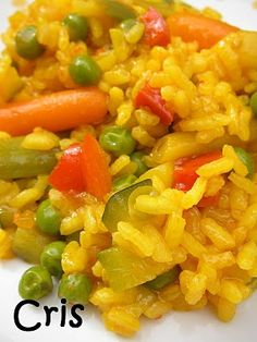Arroz rápido de verduras con thermomix Rice Recipes, Cooking Recipes, Healthy Recipes, Salty Foods, Rice Dishes, Food Festival, Pasta, Yummy Food, Favorite Recipes