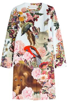 Mary Katranzou Cotton-Silk Printed Coat