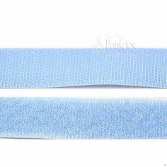 Velcro para coser de color celeste