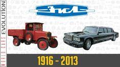 W.C.E - ZIL Evolution (1916 - 2013) Sky High, Eastern Europe, Classic Cars, Monster Trucks, Tropical, Guys, Vintage Cars, Classic Trucks