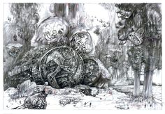 filip kurzewski; pencil on paper; 70x100cm / 27,5x39inch