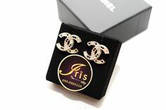 ต่างหู Chanel Earrings CC Crystal GHW ของใหม่พร้อมส่ง‼️ - Iris Shop