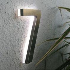 Led illuminated address numbers....Surrounding.com