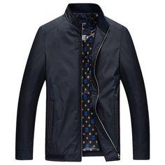 Men Jacket Male Business Casual Mandarin Collar Solid Jackets New Men's Fashion Overcoat Jackets Coats