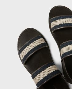 Image 4 of SANDALS WITH DOUBLE STRAP from Zara