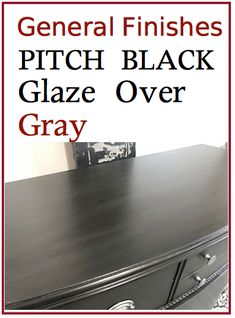 New painting wood furniture black dressers general finishes ideas Gel Stain Furniture, Glazing Furniture, Black Painted Furniture, Furniture Painting Techniques, Painted Bedroom Furniture, Black Furniture, Colorful Furniture, Shabby Chic Furniture, Painting Furniture