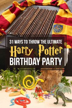 31 Ways To Throw The Ultimate Harry Potter Birthday Party- every single one of these ideas is genius.