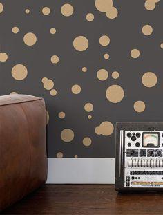 Space Dots Wallpaper in Eclipse design by Aimee Wilder   BURKE DECOR