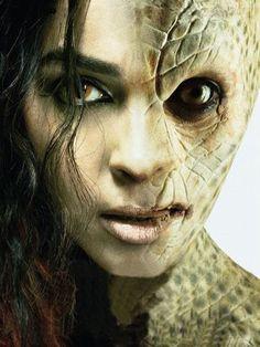 The Snake Woman Movie Reptiles, Lizards, Maquillage Halloween, Halloween Makeup, Arte Alien, Alien Races, Aliens And Ufos, Woman Movie, Sfx Makeup