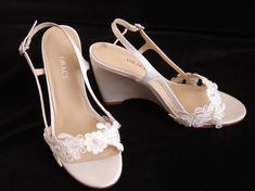 Wedge Heel Bridal Shoes   Found on etsy.com