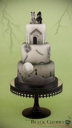 ☾☾ Halloween Ѽ All Hallows ☾☾ Frankenweenie Cake