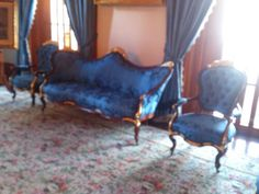 Victorian style gold gilded furniture at the iolani palace on oahu hawaii used by king kamehameha