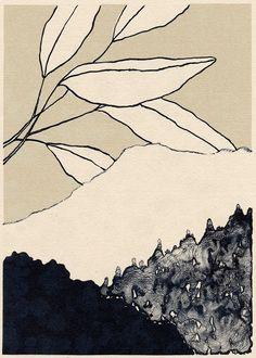 LC201718 近藤英樹 hideki kondo  森の遠近  リトグラフ17×12cm  ED/60
