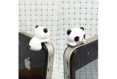 I found 'Cute White Black Hanging Panda Anti Dust Plug 3.5mm Phone Dust Stopper Earphone Cap Headphone Jack Charm for iPhone 4 4S 5 HTC Samsung---K002' on Wish, check it out!