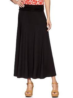 Foldover maxi skirt | Gap
