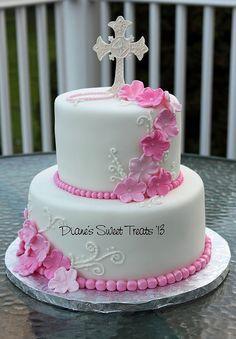 Communion cake by Dianes Sweet Treats - (Diane Burke), via Flickr | Religious celebration cakes | Pinterest | Communion Cakes, Communion and Sweet Treats
