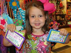"""best tooth fairy EVER!  reynolds received very special gift certificates redeemable for one """"happy"""" a day at gigi's for every day she was staying in rosemary beach!"""