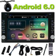 FOR Universal Quad Core two 2Din Android 6.0 Car GPS Stereo Autoradio HD Capacitive Screen GPS Navigation DVD Player WiFi Camera