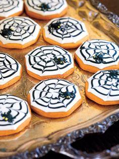 Graciosas galletas de arañas / Cute spiderweb cookies