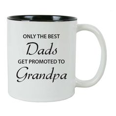 Only the Best Dads Get Promoted to Grandpa 11 oz White Ceramic Coffee Mug (Black) with FREE Gift Box - Great for Father's Day, Birthday, or Christmas Gift for Dad, Grandpa, Grandfather, Papa, Husband *** Want to know more, click on the image.