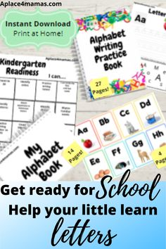 Get ready for school with this kindergarten readiness bundle! All of these products utilize the same photos, making learning their letters easy! This bundle gives you the kindergarten readiness chart, letter tracing book, alphabet flashcards, and alphabet book: Kindergarten Readiness Chart! #learnletters #learnthealphabet #alphabetactivities #alphabetlearning #alphabetpractice #learnathome #homelearning #schoolreadiness #kindergartenreadiness #kindergartenactivities #kindergartenlearning Kindergarten Readiness, Kindergarten Writing, School Readiness, Teaching The Alphabet, Alphabet Book, Learning Letters, Alphabet Worksheets, Alphabet Activities, Worksheets For Kids