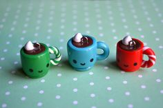 Kawaii Christmas Hot Chocolate Mug Charm. $4.50, via Etsy.
