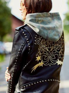 Gold Rush Biker Jacket