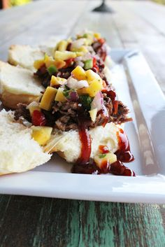 WE EAT | Slow Cooked BBQ Brisket Sliders Mango Salsa