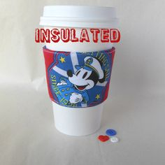 Mickey Mouse Disney Cruise drink cozy Nautical by DeegeeMarieGifts