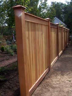 Nice wood fence idea