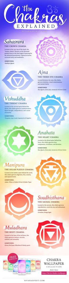 Are you new to chakras? Start learning by this easy to read info graph explaining the 7 chakras and watching this video for additional chakra information.