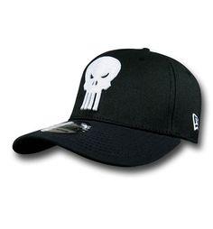 b8062f42b47 Punisher Symbol Black 39Thirty Cap Cool Hats