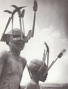 George Rodger/Magnum, Children of the Wagogo Tribe, bearing masks typical of the circumcision ceremony, Tanzanie, 1947 Story Starter, Afrique Art, Magnum, Spiritus, African Masks, People Of The World, Tribal Art, Statues, Montana