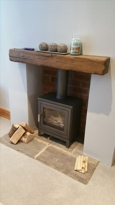 Most up-to-date Pictures wooden Fireplace Hearth Suggestions Chesney Shoreditch in silver Wood Burner Fireplace, Wooden Fireplace, Fireplace Hearth, Fireplace Design, Fireplaces, Fireplace Ideas, Oak Mantle, Cottage Living Rooms, Homemade Home Decor