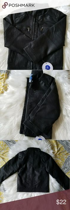 🆕Girls Faux Leather Jacket Brand New Black Faux Leather Jacket d's 2t Jackets & Coats Blazers