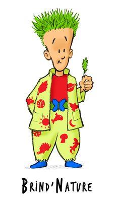 BRIND'NATURE : personnage des MULTIBRIOS représentant l'intelligence NATURALISTE. Son ami est le tigre TIM. Bart Simpson, Fallout Vault, Boys, Stage, Fictional Characters, Nature, Characters, Baby Boys, Children