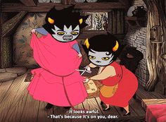 ((This is exactly how Kanaya would react to Karkat in a situation like this.))