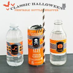 Halloween Ideas - Printable Bottle Wrappers // Anders Ruff