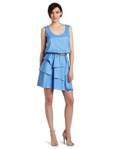 Amazon.com: Julie Dillon Women's Sleeveless Dress With Tiered Skirt: Clothing