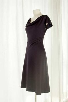 This dress is a classy and elegant piece with a beautiful cowl neck and is easy to make using a soft, flowing, stretchable jersey fabric. For fabric that i